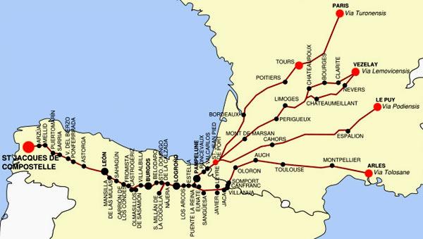 route naar pyreneeen