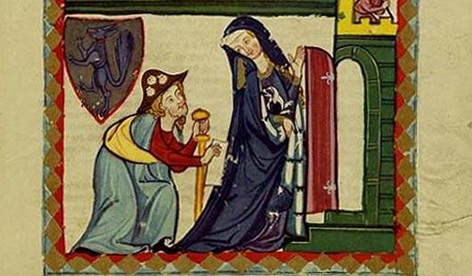 de opvang van de pelgrims in de middeleeuwen