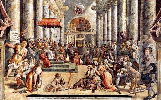 De st pietersbasiliek in rome - Makers van het interieur ...