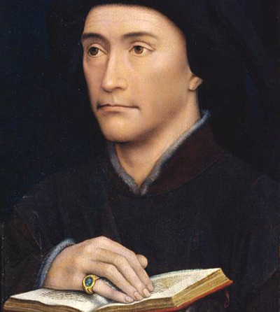 De Doornikse bisschop Willem Fillastre. Rogier Van der Weyden, 1440. Londen, Courtauld Institute Galleries