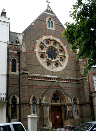 'Convent of the Assumption' aan Kensington Square in Londen